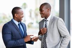 Gruppo afroamericano di affari Immagini Stock