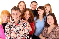 Gruppo allegro di giovani. Immagine Stock