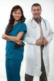 Gruppo americano asiatico del lavoratore di sanità Fotografie Stock