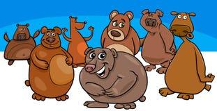 Gruppo animale dei caratteri del fumetto degli orsi royalty illustrazione gratis