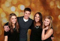 Gruppo attraente di anni dell'adolescenza Fotografia Stock