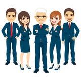 Gruppo blu del vestito di affari royalty illustrazione gratis