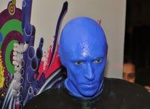 Gruppo blu dell'uomo Immagine Stock