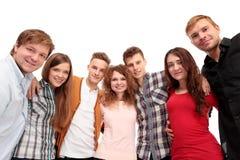 Gruppo casuale di amici emozionanti Fotografie Stock