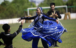 Gruppo caucasico di ballo Fotografia Stock Libera da Diritti