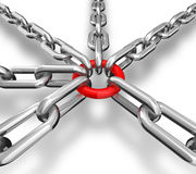 Gruppo Chain Fotografie Stock Libere da Diritti