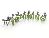 Gruppo che forma parola di addestramento illustrazione di stock