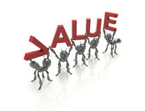 Gruppo che forma parola di valore royalty illustrazione gratis