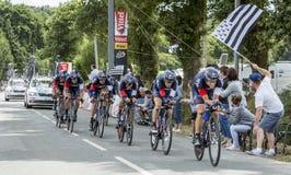 Gruppo che sto ciclando - Team Time Trial 2015 Immagini Stock Libere da Diritti