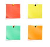 Gruppo colorato note Fotografie Stock