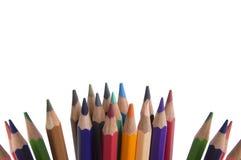 Gruppo colourful della tavolozza del fondo della matita di colore Fotografie Stock