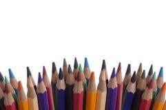 Gruppo colourful della tavolozza del fondo della matita di colore Immagine Stock Libera da Diritti