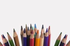 Gruppo colourful della tavolozza del fondo della matita di colore Fotografie Stock Libere da Diritti