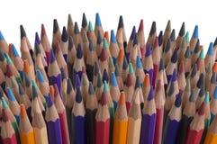 Gruppo colourful della tavolozza del fondo della matita di colore Fotografia Stock