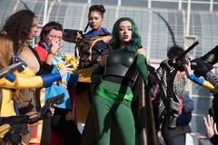 Gruppo comico Cosplayers 1 dell'Expo di Long Beach Immagine Stock
