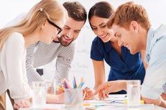 Gruppo creativo sul lavoro Immagine Stock