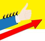 Gruppo: Crescita positiva Immagini Stock