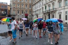 Gruppo degli adolescenti Fotografia Stock Libera da Diritti