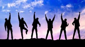 Gruppo degli scalatori Immagini Stock Libere da Diritti