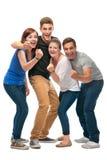 Gruppo degli studenti di college Fotografie Stock