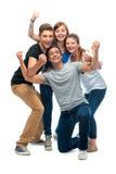 Gruppo degli studenti di college Fotografia Stock