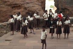 Gruppo degli studenti indiani della scuola Fotografia Stock