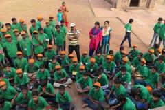 Gruppo degli studenti indiani della scuola Immagini Stock
