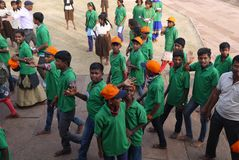 Gruppo degli studenti indiani della scuola Fotografie Stock Libere da Diritti