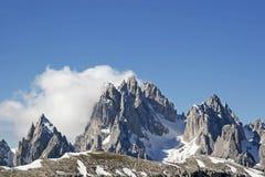 Gruppo-dei Cadine in den Dolomit Stockfoto