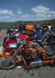 Gruppo dei ciclisti del motore Fotografia Stock