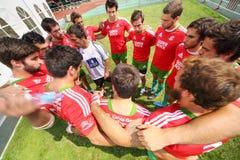 Gruppo dei giocatori di rugby dal Portogallo Fotografia Stock Libera da Diritti