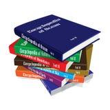 Gruppo dei libri dell'enciclopedia Immagine Stock
