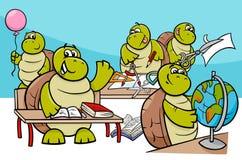 Gruppo dei personaggi dei cartoni animati degli allievi della tartaruga illustrazione di stock