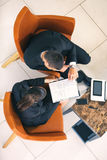 Gruppo del collega, uomo d'affari e seduta della donna di affari immagini stock