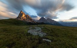 Gruppo Del Nuvolau, Dolomit Stockbilder