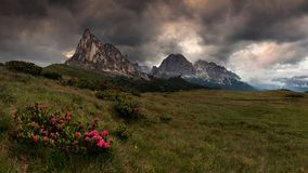 Gruppo Del Nuvolau, Dolomit stockbild
