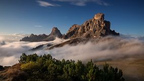 Gruppo Del Nuvolau, Dolomit stockfotos