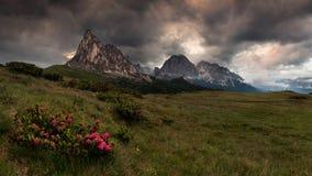 Gruppo del Nuvolau, Dolomites stock image