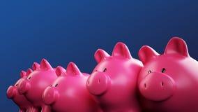 Gruppo del porcellino salvadanaio Immagine Stock
