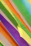 Gruppo del primo piano di carta della striscia di colore Immagine Stock