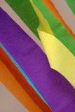 Gruppo del primo piano di carta della striscia di colore Fotografia Stock Libera da Diritti