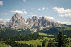 Gruppo del Sassolungo, Langkofelgruppe, Trentino Alto Adige, Italy. Massiccio del Sassolungo, Dolomiti Alps, Italy Stock Images