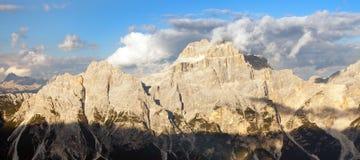 Gruppo del Sorapis, Alps dolomites mountains Stock Images