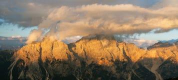 Gruppo del Sorapis, Tirolo del sud, montagne delle dolomia Fotografie Stock Libere da Diritti