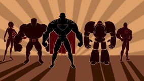 Gruppo del supereroe illustrazione vettoriale