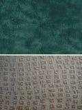 Gruppo del tessuto - pelle scamosciata del faux e geometrico Immagine Stock