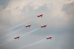 Gruppo dell'esposizione degli aerei di Patrouille Suisse F5 fotografia stock