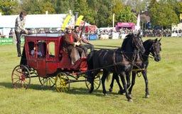 Gruppo dell'esposizione dei cavallerizzi dei diavoli di manifestazione della contea di Herts Fotografia Stock Libera da Diritti