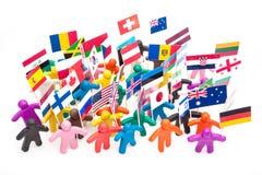 Gruppo della folla di esseri umani colourful del plasticine con Immagini Stock Libere da Diritti