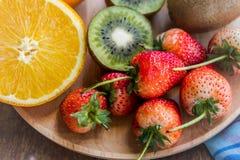 Gruppo della frutta e della fragola di vitamina per salute, frutta saporita Immagine Stock Libera da Diritti